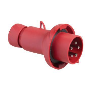 施耐德 380~415V快速连接移动工业插头(32A 6h IP67 5P 红),PKX32M735