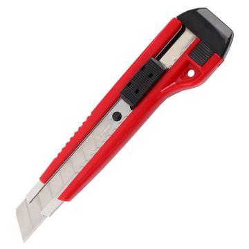 齊心 防滑自鎖美工刀,B2828 大號18mm塑膠殼 顏色隨機 單位:把