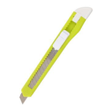 齐心 小号塑胶壳炫彩美工刀,B2825 颜色随机 单位:把