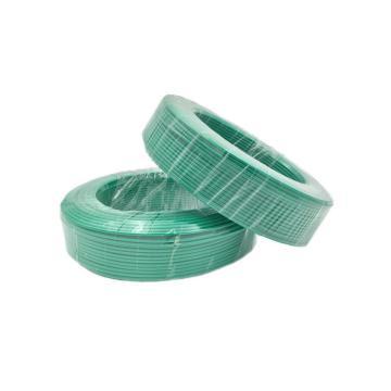 津达 阻燃聚氯乙烯绝缘多股单芯软线, ZD-BVR 4mm²绿色
