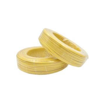 津达 阻燃聚氯乙烯绝缘多股单芯软线, ZC-BVR 4mm²黄色,100米/卷