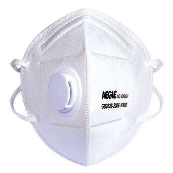 羿科 折叠型带阀口罩AZN902V,30个/盒