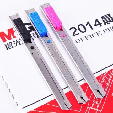 晨光 M&G 金属美工刀 ASS91314 小号 刀片宽度9mm (红、蓝、黑,颜色随机)单把