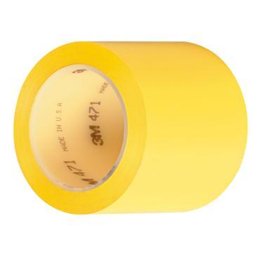 3M 聚氯乙烯膠帶,100mm×33m,黃色,471