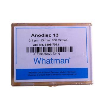 Whatman Anopore无机膜,0.1um/13mm,100片/盒