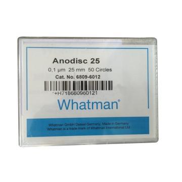 Whatman Anopore无机膜,0.1um/25mm,50片/盒