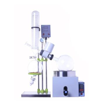 小型旋转蒸发仪,RE-301,0.5-3L,立式,恒温数显水浴锅,特氟隆+氟化橡胶双重密封,手动升降