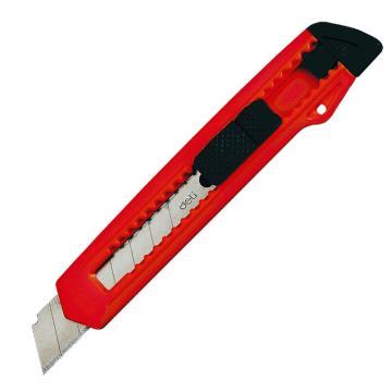 得力 美工刀, 18mm(大号)2001,颜色随机,单个