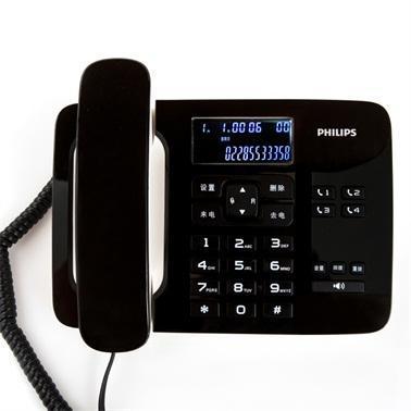 飛利浦 電話機,黑色,CORD492