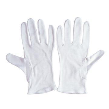 佳的 A04A3-L 漂白全棉品管手套,12副/打