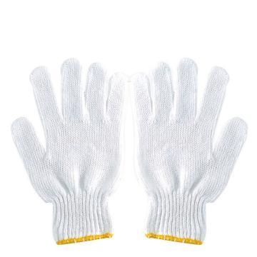 西域推荐 纱线手套,C01B,漂白纱线手套600g,12双/打