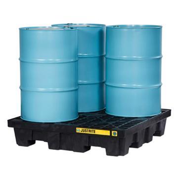 杰斯瑞特JUSTRITE 4桶裝可排水盛漏托盤,方形,28637