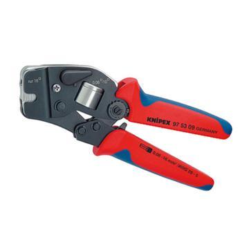 凯尼派克 Knipex 压线钳,250mm 省力型棘轮式(套管式端子),97 53 09