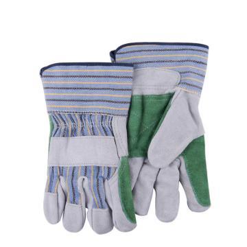 威特仕 半皮手套,10-2806-XL,双层皮掌劳保手套