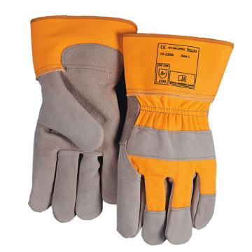 威特仕 全皮手套,10-2209-XL,劳保皮掌手套/灰色皮