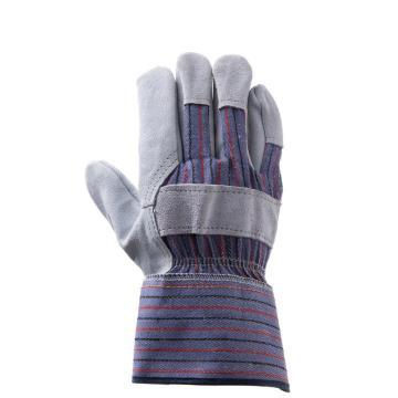 威特仕 半皮手套,10-2215-L,掌皮背布劳保手套