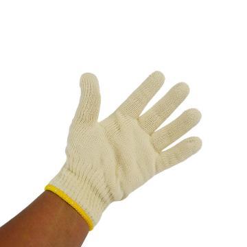佳盾 纱线手套,5000型,500克本白涤棉纱线手套,12副/打