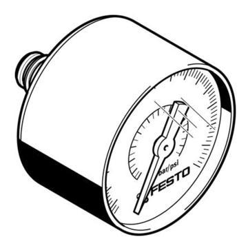 費斯托FESTO 壓力表,QSP.10,0至1Mpa,PAGN-40-1M-P10,563738