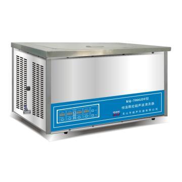 超声波清洗器,台式恒温数控,KQ-700GDV,容量:27L,超声功率:700W,超声频率:40KHz,恒温可调:0-80℃