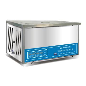 超声波清洗器,台式恒温数控,KQ-600GDV,容量:27L,超声功率:600W,超声频率:40KHz,恒温可调:0-80℃