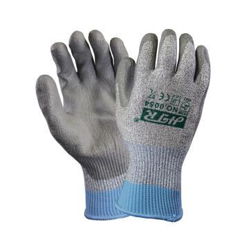 海太尔 0054-9 5级防割手套,针织手腕,PU涂层,灰色