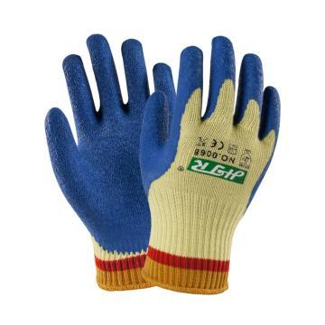 海太尔 5级防割手套,0068,防割浸胶手套 天然乳胶涂层