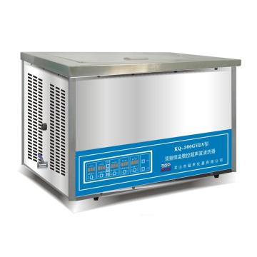 超声波清洗器,双频恒温数控,KQ-300GVDV,容量:13L,超声功率:300W,超声频率:45,80KHz,恒温可调:0-80℃
