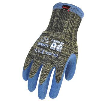 赛立特 L22655-8 10针BLADEX5+防切割、阻燃纤维针织内胆,拇指全浸蓝色乳胶出纹手套