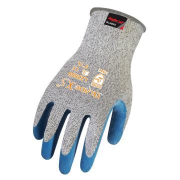 赛立特 5级防割手套,L22600-9,13针BLADEX5 防切割纤维针织内胆,拇指全浸蓝色乳胶出纹手套