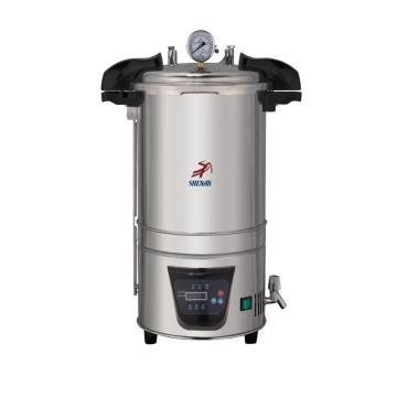 灭菌器,不锈钢手提式,DSx-280B,容积:18L,温度范围:50-126℃,断水保护
