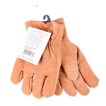 威特仕 防寒手套,10-2266-XL,保暖柔猪青绒驾车皮手套
