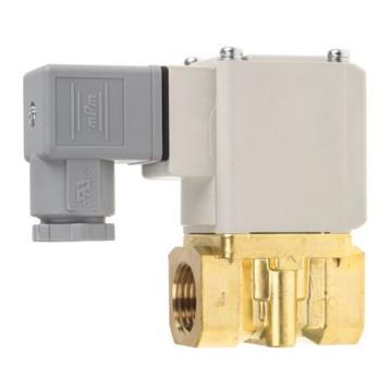 "SMC 水用直动式2通电磁阀,DIN插座DC24V,接管Rc3/8"",孔径4mm,VX222DG"