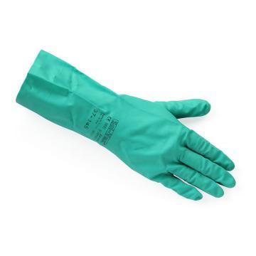 Ansell 37-145-9 丁腈手套,Sol-Vex耐磨耐刺穿抗化学品手套