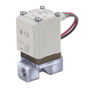 "SMC 空气用直动式2通电磁阀,直接出线DC24V,接管Rc1/4"",孔径5mm,VX210FF"