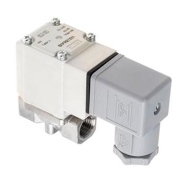 """SMC 空气用直动式2通电磁阀,DIN插座DC24V,接管Rc1/4"""",孔径5mm,VX210FG"""