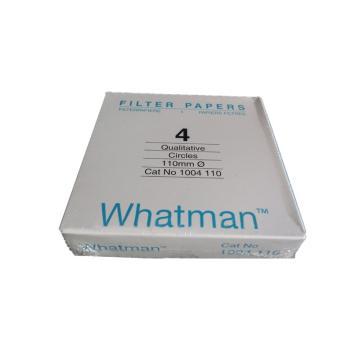 Whatman定性滤纸,标准级,GR,4,11CM,100/PK