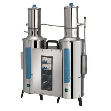 不锈钢电热重蒸馏水器,20升/时,断水自控,申安,ZLSC-20