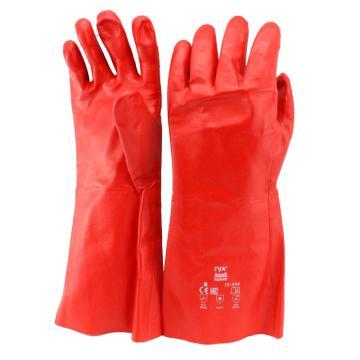 安思尔Ansell PVA防化手套,15-554-9,PVA抗有机溶剂手套 棉衬内垫 直戴式
