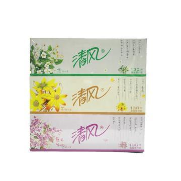 清风(Breeze)盒装面纸B333/B335AAD 206*195毫米 双层 130抽/盒 48盒/箱
