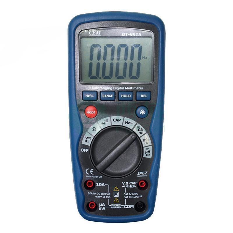 华盛昌/cem 数字万用表,防水型,dt-9915