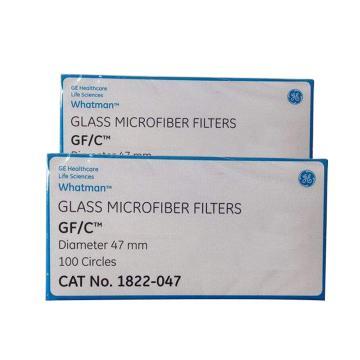 Whatman玻璃微纤维滤纸(无粘合剂),GF/C,4.7CM,100/PK