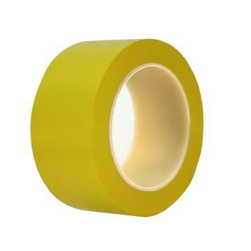 地板警示划线胶带,50mm*33m 0.15mm厚  黄色