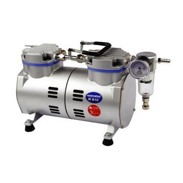 真空泵,无油式,真空度:-730mmHg;抽气速度:33L/min; 标配真空表、真空调节阀、缓冲杯及滤芯,SCIENCETOOL,R610