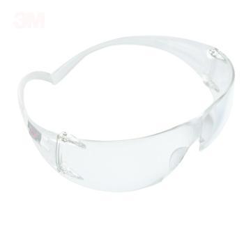 3M 防护眼镜,SF201AF,超轻舒适透明防护眼镜 防雾