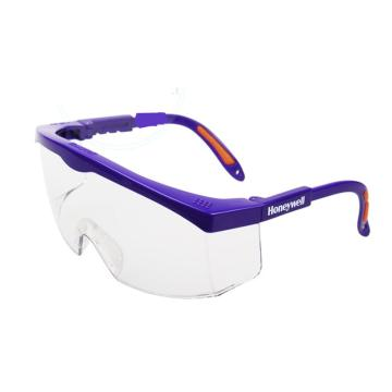 霍尼韦尔Honeywell 防护眼镜,100100,S200A 透明镜片 蓝色镜框 防雾眼镜