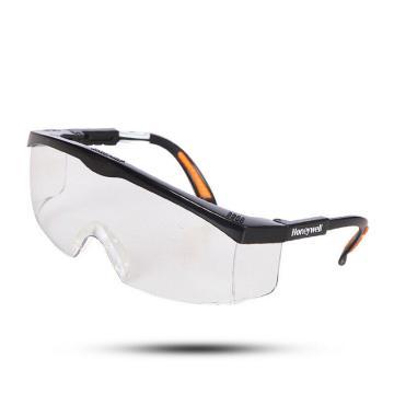霍尼韦尔 S200A 透明镜片 黑色镜框 耐刮擦眼镜,100210