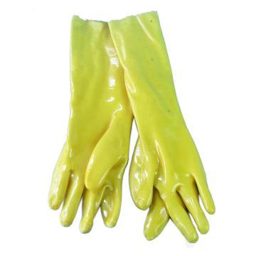 春蕾 45cm加厚加长棉毛浸塑手套,耐酸碱耐油PVC材质