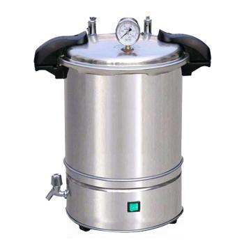 压力蒸汽灭菌器,手提式,移位式快开盖型,煤电两用型,YXQ-SG46-280SA,容积:18L,灭菌室尺寸:Φ280x290mm,博迅
