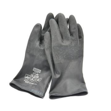 霍尼韦尔B131R/9 NORTH BUTYL TM手掌粗糙丁基合成橡胶手套,厚0.33mm,长28cm,卷边袖