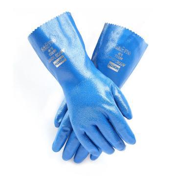 """霍尼韦尔Honeywell 丁腈防化手套,NK803/9,NITRI-KNIT TM 丁腈涂层 12"""" 互锁编织衬里 粗糙纹路"""